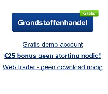 Ontvang deze maand 25 euro gratis bij de handel in grondstoffen op de beurs